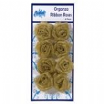 Organza Ribbon Roses Gold